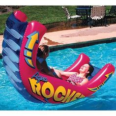 Inflatable Aqua Rocker Pool Float by Poolmaster - unfillable wishlist Summer Pool, Summer Fun, Piscine Diy, American Sales, Cool Pool Floats, My Pool, Pool Fun, Pool Cabana, Pool Games