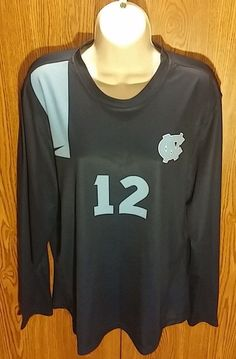 Nike Carolina Tar Heels Long Sleeve Volleyball Jersey Shirt Womens M Medium NCAA #Nike #NorthCarolinaTarHeels
