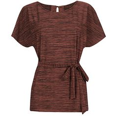 Buy Warehouse Space Dye Belted Top, Dark Red Online at johnlewis.com