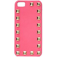 VALENTINO GARAVANI Rockstud I-Phone Cover ($237) ❤ liked on Polyvore featuring accessories, tech accessories, phone cases, phone, tech, iphone and fuchsia