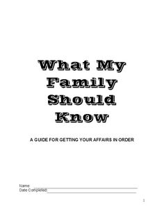 The Navy's version of my Squash Book (What My Family Needs to Know I Got Squashed Today) - pick through for extra ideas to add Funeral Planning, Retirement Planning, Family Emergency Binder, When Someone Dies, Will And Testament, Life Binder, End Of Life, Life Plan, Life Organization