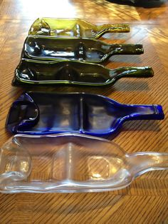 Recycled Slumped Wine Bottle Sectional Snack by mlglassdesigns