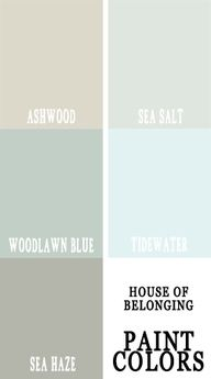 Sea Haze for FR walls and Sea Salt for FP. coordinating paint colors