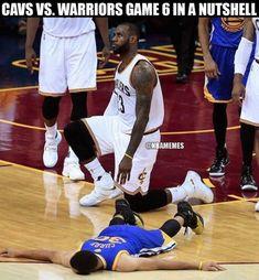 LeBron killing Curry