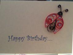 Happy Birthday Ladybug card! blank inside  http://www.etsy.com/shop/jgaCreations