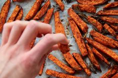 """""""Thyme & Paprika Sweet Potato Wedges"""", fresh out of the oven! Sweet Potato Wedges, Meals For One, Cravings, Carrots, Oven, Posts, Make It Yourself, Fresh, Vegetables"""