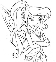 Fairy Coloring Pages Scrapbooking prints Pinterest Disney