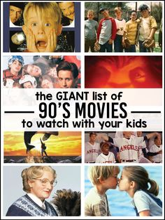 The giant list of movies you have to watch with your kids - do you remember all of these movies? Which ones were your favorites? Movie the Giant List of Movies to Watch With Your Kids Movie To Watch List, Good Movies To Watch, Movie List, 1990 Movies List, Best Kid Movies, 1990s Kids Movies, Classic Movies For Kids, Funny Kids Movies, Old Family Movies