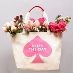 "Kate Spade ""Seize The Day"" tote, brand new Brand new Kate Spade tote, retail $78. It's perfect and still in packaging! kate spade Bags Totes"