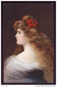 004 - PORTRAIT DE FEMME - éditeur KUNZLI -1292 - illustrateur ASTI Angélo