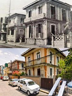 CALLE TANDUAY *Row of Identical Classic Apartment Buildings in Calle Tanduay, (present name Nepomuceno St. Filipino Architecture, Philippine Architecture, Then And Now Photos, Filipino Culture, Manila Philippines, Historical Architecture, Pinoy, Monuments, Old Houses