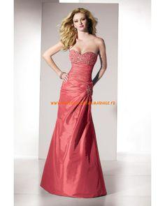 Boutique robe pas cher longueur ras du sol décorée de cristaux robe de soirée 2013 taffetas
