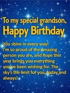 Birthday Wishes for Grandson - Birthday . Happy Birthday Wishes Cards, Happy Birthday Love, Happy Birthday Pictures, Happy Birthday Quotes, Birthday Greetings, Card Birthday, 17th Birthday, Birthday Crafts, Birthday Ideas