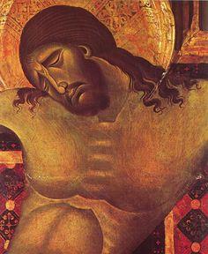 Cimabue (Italian, 1240-1302) - Crucifix (detail) 1268-71 Tempera on wood, 64,5 x 53 cm (size of the detail) San Domenico, Arezzo