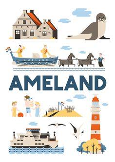 Als kunstposter koop op: https://www.catch-online.nl/kunstenaars/jochem-coenen #Ameland #poster #Holland