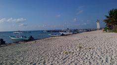 Puerto Morelos jewel of the Riviera Maya - beach facing leaning lighthouse