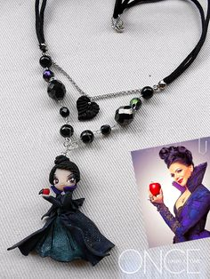 Once Upon a Time - Regina by AyumiDesign on deviantART ~ necklace art