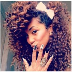 Bows Are A Timeless Accessory - 31 Ways To Incorporate Bows Into Your Hair Style [Gallery]  Read the article here - http://www.blackhairinformation.com/general-articles/playlists/bows-are-a-timeless-accessory-31-ways-to-incorporate-bows-into-your-hair-style-gallery/