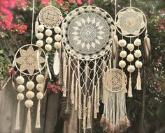 Items similar to Custom made to order, crocheted, lace bohemian dream catchers on Etsy
