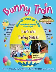 Bunny Train an Easter Eggstravaganza at Orange Empire Railway Museum   Macaroni Kid