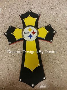 Hey, I found this really awesome Etsy listing at https://www.etsy.com/listing/177661810/pittsburg-steelers-stacked-wooden-cross