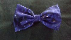 Purple Star Night Sky Bow by Th1rte3nsCloset on Etsy, $4.00