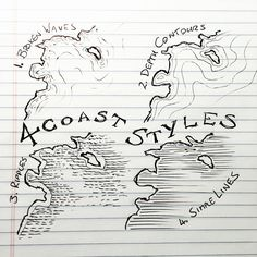 4 Coast Styles for Mapmaking
