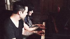 John and Korey playing piano together:) omg they are my favorite couple