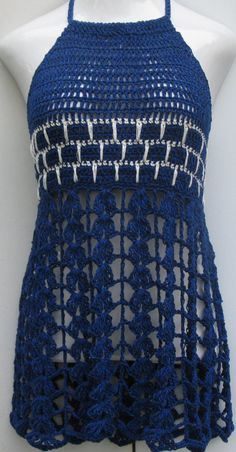 Crochet dress mini beach cover up festival top/ dress Punto Zig Zag Crochet, Débardeurs Au Crochet, Beach Crochet, Crochet Cover Up, Baby Afghan Crochet, Crochet Tunic, Crochet Clothes, Diy Clothes, Festival Tops