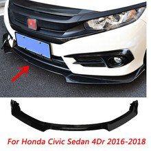 Online Shop For Honda Civic 2016 2017 Rear Lip Spoiler Bumper Diffuser High Quality Matte Black Primer Pp Honda Civic Honda Civic Accessories Honda Civic Sedan