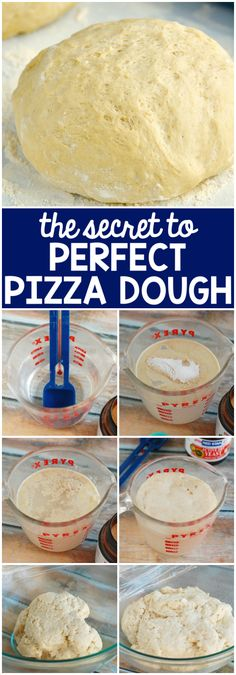 The Secret to Perfect Pizza Dough! Easy to follow step by step photos that will give you the perfect pizza dough!