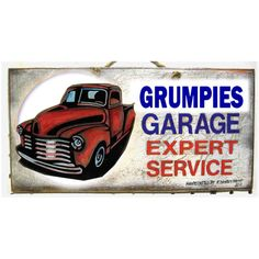 Road Signs Vintage Garage Signs Car Mechanic Art Garage Signs