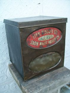 Metal Iten Biscuit Co Tin Dispenser for Old by MyCountryAntiques, $69.95