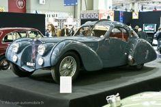 1936 Bugatti 57 SC Atlantic. Châssis #57473. Reconstruction à partir du châssis accidenté en 1955.