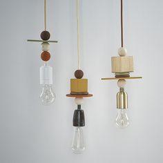 Mes suspensions luminaires géométriques