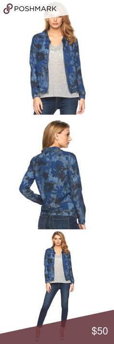 "Juicy Couture Denim Floral Camo Bomber Jacket Juicy Couture denim floral camo bomber jacket will keep your look fresh! The floral camo print gives you a free-spirited style.   PRODUCT FEATURES Elastic cuffs & hem Zip front Long sleeves 2-pocket Un-lined  Rayon, machine wash *Approximate measurements: *M (Chest 41""/Size 8-10) *XL (Chest 47""/Size 16-18)  CLOSET RULES: Bundle Discounts * No Trades * Smoke free Juicy Couture Jackets & Coats"