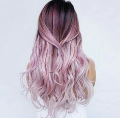 Red or Pink Hair Color Tones-Do you want to have stylish ombre hair color? We bet you do! Hair Color Pink, Purple Hair, Pink Purple, Hair Colours, Hot Pink, Green Hair, Ombre Colour, Pink White, Pink Lila