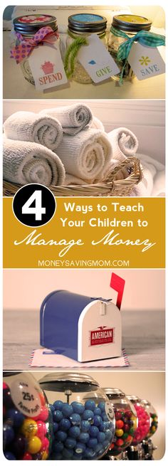 4 Ways to Teach Your Children Money Management -- so many great tips & suggestions in this post!