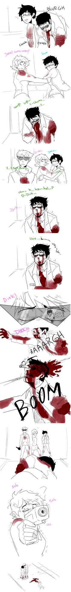 Nope nope noppppeeee -flips a table- done with sad pictures. I hope you happy I am crying now! Homestuck Comic, Cry Now, Home Stuck, And So It Begins, Sad Pictures, Stuff To Do, Cool Stuff, My Heart Is Breaking, Creepypasta