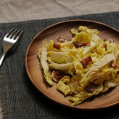 Helen Getz's Napa Cabbage with Hot Bacon Dressing Recipe on Food52 recipe on Food52
