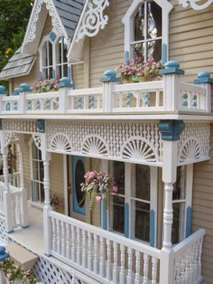 "Dollhouses by Robin Carey: "" The Darling House"" Victorian Dollhouse"