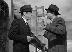 Humphrey Bogart and Clifton Young in Dark Passage 1947