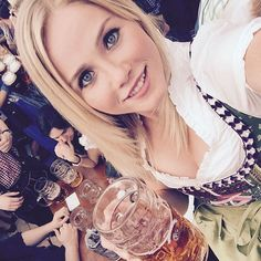 Girls in dirndls. #oktoberfest #munich #germany #beer #beerfest #travel…
