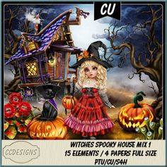 Witches Spooky House Mix 1 (FS/CU/S4H) [CCD] : Scrap and Tubes Store, Digital Scrapbooking Supplies Spooky House, Scrapbook Supplies, Digital Scrapbooking, Witch, Digital Image, Craft Projects, Deep, Halloween, Store