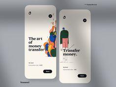 The art 👌 of money transfer designed by Maxim Aginsky. Connect with them on Dribbble; Web Design, App Ui Design, User Interface Design, Media Design, Web Layout, Layout Design, To Do App, App Design Inspiration, Mobile Ui Design