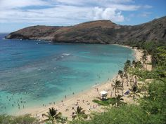 Haunama Bay in Hawaii-Beautiful. Sandy and I snorkels almost every day when we lived there.