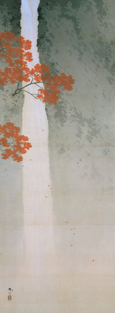 Waterfalls in Spring and Autumn, c. by Hishida Shunso (1874-1911)