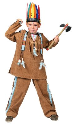 Kids Pow Wow Indian Boy Costume - Native American Indian Costumes