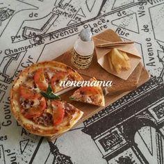 ミニチュアフード ボロネーゼのピザランチセット♪