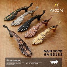 Door Pull Handles, Door Pulls, Main Door Handle, Upcycled Furniture, Hardware, Luxury, Metal, Range, Brass